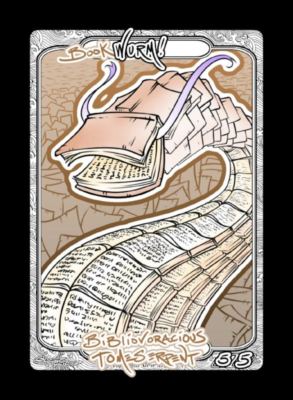 Wurm (Book) Token for MTG (Steve Argyle) Token Steve Argyle 2 - Cardamajigs