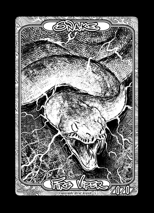 Snake Token for MTG (Steve Argyle)