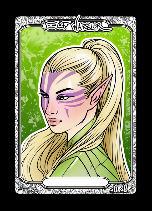 Elf Warrior Token for MTG (Steve Argyle) Token Steve Argyle 2 - Cardamajigs