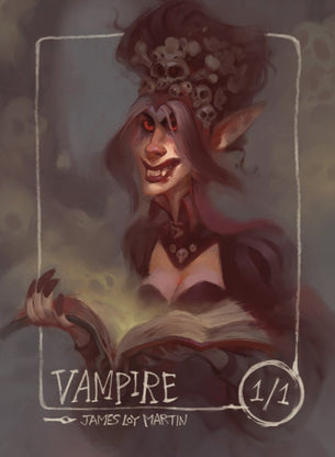 4x Vampire Tokens for MTG (James Loy Martin)