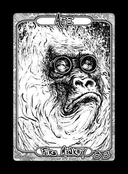 Ape (Fire Monkey) Token for MTG (Steve Argyle) Token Steve Argyle 2 - Cardamajigs