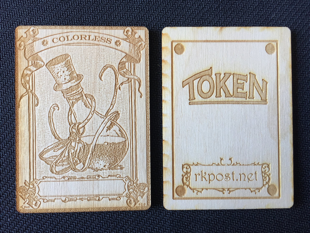 Mana Colorless 1 Wood Token (RK Post)
