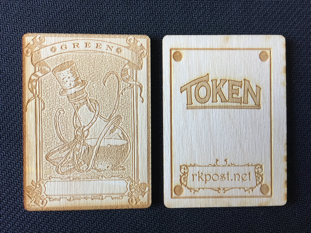 Mana Green 1 Wood Token (RK Post)
