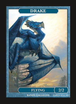 Limited Edition Drake 2/2 Token for MTG (by Randy Gallegos)