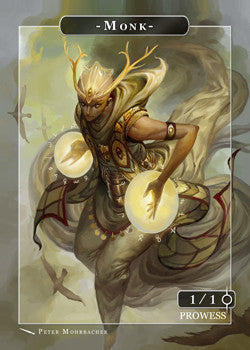 Monk Token for MTG (Peter Mohrbacher) Token Angelarium 2 - Cardamajigs