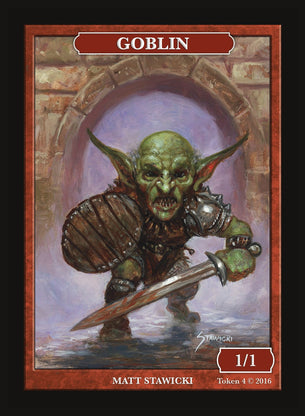 Limited Edition Goblin Token for MTG (by Matt Stawicki)
