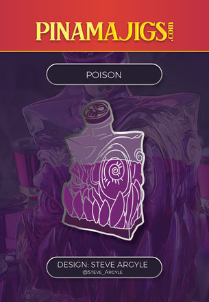 "Poison 1.5"" Pin (Steve Argyle) Alpha"