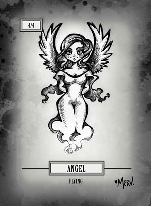 4x Angel 4/4 Tokens for MTG (Shannon Allen)