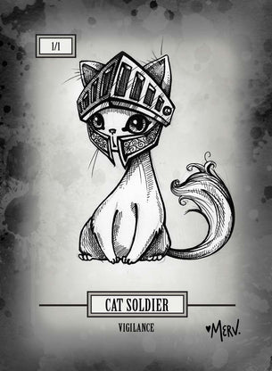 Cat Soldier Token for MTG (Shannon Allen)