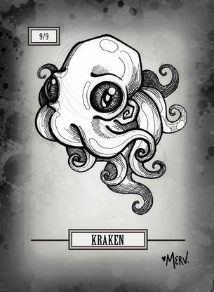 Kraken Token for MTG (Shannon Allen)