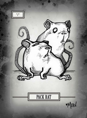 4x Pack Rat Tokens for MTG (Shannon Allen)