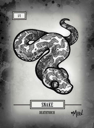 4x Snake Tokens for MTG (Shannon Allen)