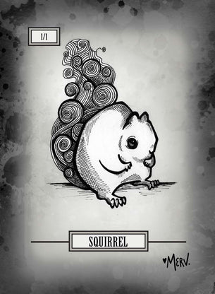 Squirrel Token for MTG (Shannon Allen)