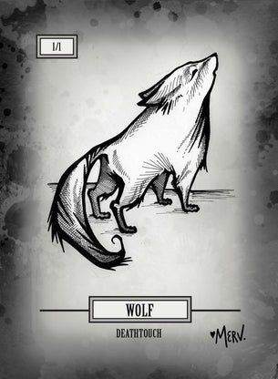 Wolf 02 Token for MTG (Shannon Allen)
