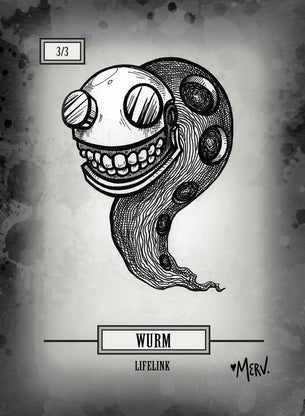 Wurm 01 Token for MTG (Shannon Allen)