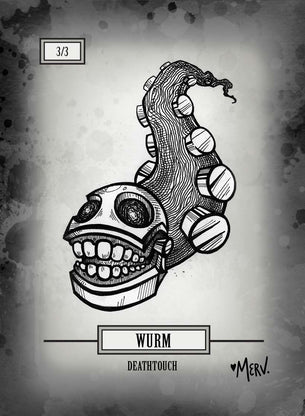 Wurm Death Token for MTG (Shannon Allen)