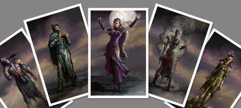 SDCC Zombie Planeswalker Set - 5 MTG Prints (Eric Deschamps)