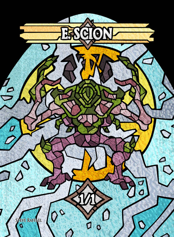 E.Scion 2 Token for MTG (SRA) Token Stephen Raffael - Cardamajigs