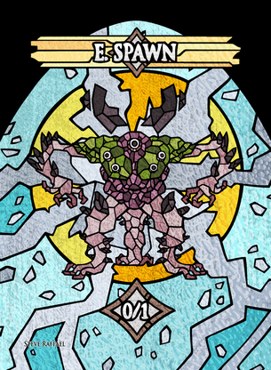 4x E.Spawn 2 Tokens for MTG (SRA)