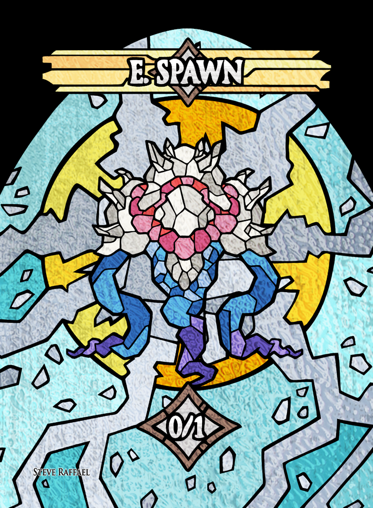 E.Spawn 3 Token for MTG (SRA) Token Stephen Raffael - Cardamajigs