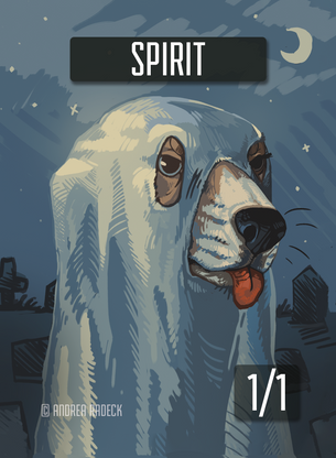 Spirit Token for MTG (Andrea Radeck)