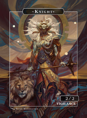 Knight Samayaza Token for MTG (Peter Mohrbacher)