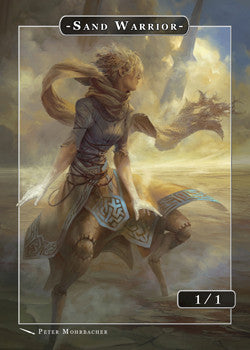 Sand Warrior Token for MTG (Peter Mohrbacher)