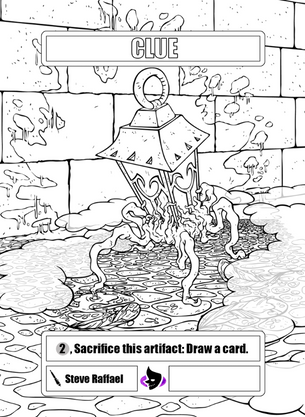 4x Clue Colouring Tokens for MTG (SRA)