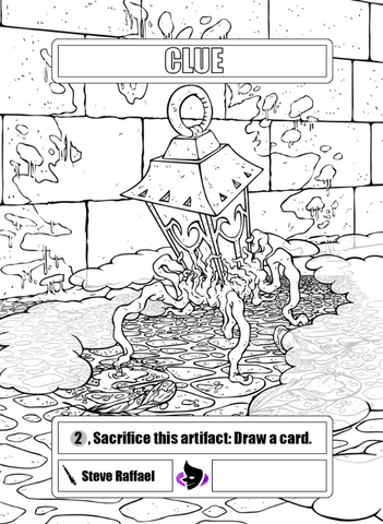 Clue Colouring Token for MTG (SRA) Token Stephen Raffael - Cardamajigs