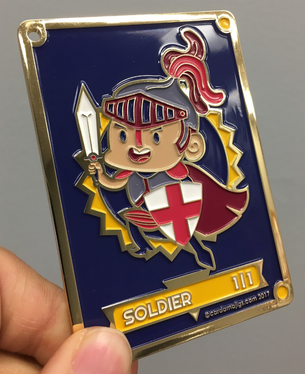 Soldier Premium Gold Enamel token for MTG (CMJ)