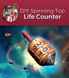 DIY Spinning Top Life Counter DIY Cardamajigs - Cardamajigs
