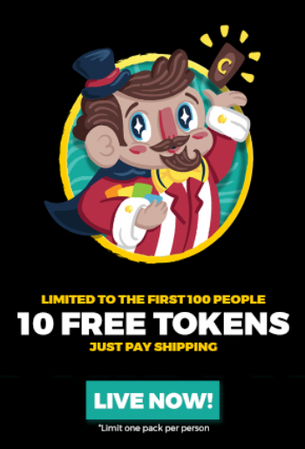 10 Free Random Tokens! (Just Pay Shipping)