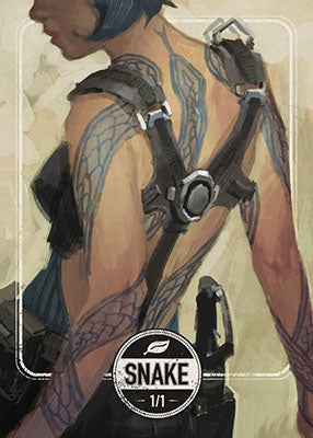 Snake token for MTG (Clint Cearley)