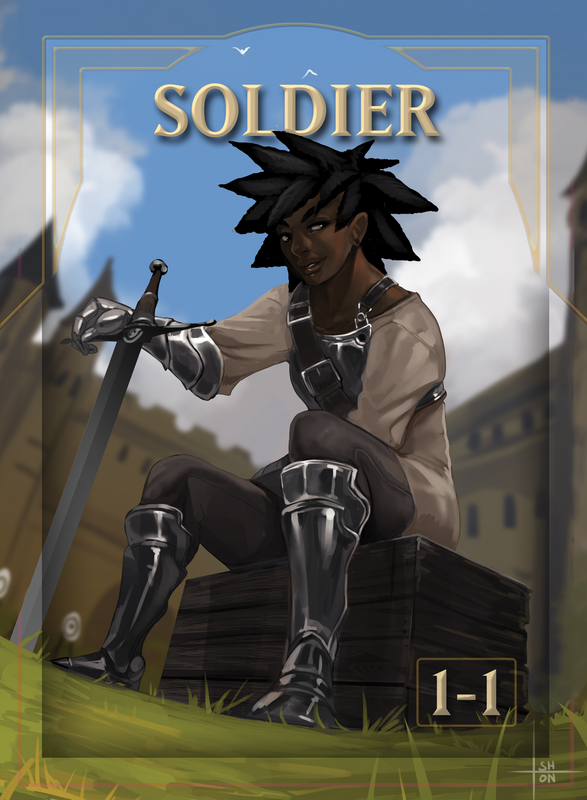 Soldier 2 Token for MTG (ISH) Token A.Lundell - Cardamajigs