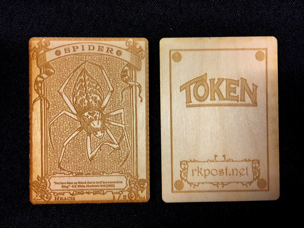 Spider Wood Token (RK Post)