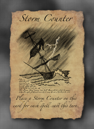 Storm Counter Token for MTG (SPZ)
