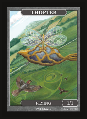 Limited Edition Thopter Token for MTG (by Pat Lewis)