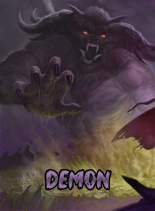 Demon Token for MTG (Mike Burns)