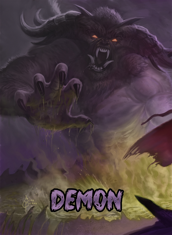 Demon Token for MTG (Mike Burns) Token Mike Burns - Cardamajigs