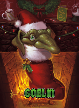 4x Goblin Holiday Tokens for MTG (Mike Burns)