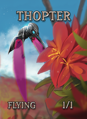Thopter Bird Token for MTG (ISH)