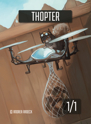 Thopter Token for MTG (Andrea Radeck)