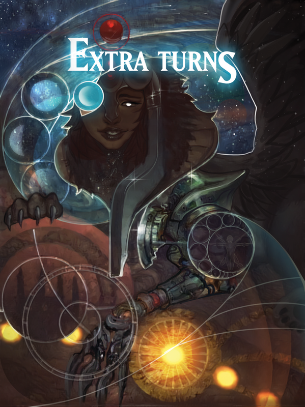Extra Turns Token for MTG (ISH) Token A.Lundell - Cardamajigs