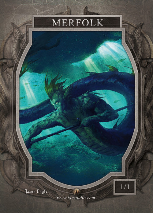 Merfolk Token for MTG (Jason Engle) Token Jason Engle - Cardamajigs