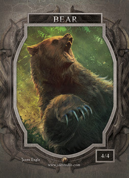 Bear Token for MTG (Jason Engle) Token Jason Engle - Cardamajigs