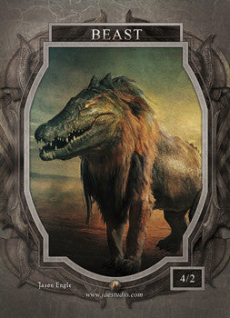 Beast 3 Token for MTG (Jason Engle)