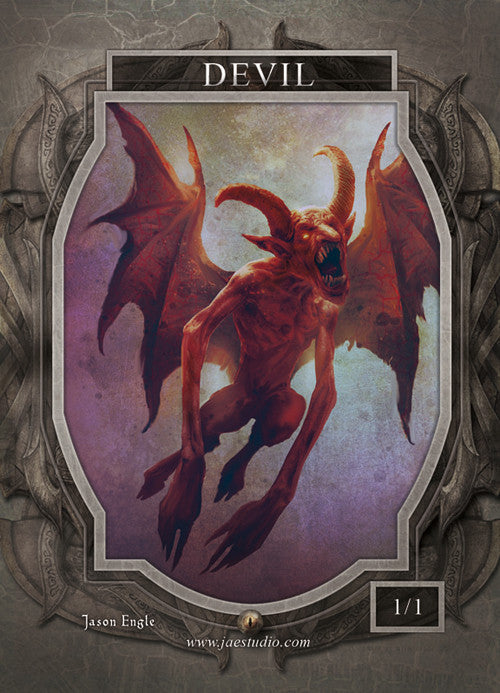 Devil Token for MTG (Jason Engle) Token Jason Engle - Cardamajigs