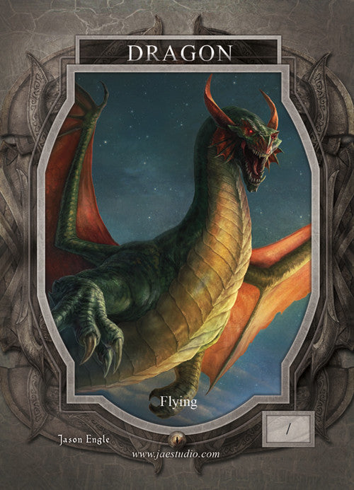 Dragon Token for MTG (Jason Engle) Token Jason Engle - Cardamajigs