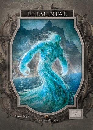 Elemental Blue Token for MTG (Jason Engle)