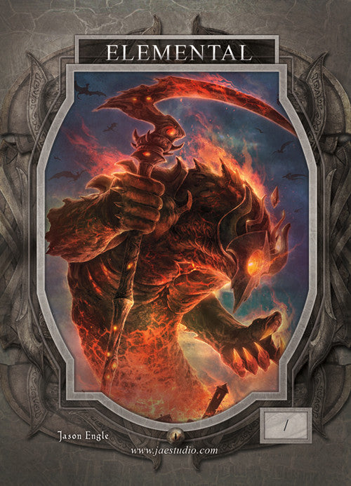 Elemental Red Token for MTG (Jason Engle) Token Jason Engle - Cardamajigs